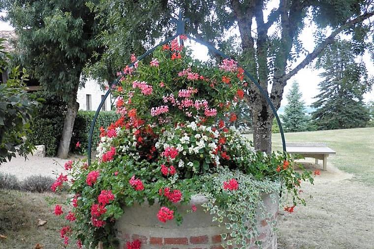 Montalzat village fleuri